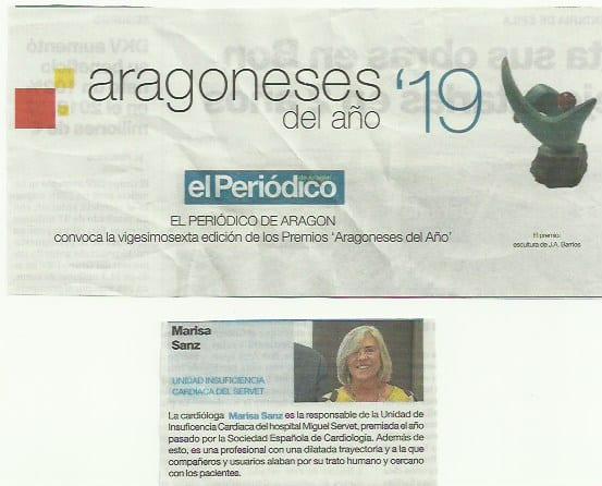 Marisa Sanz Julve elegida Aragonesa del año en valores humanos